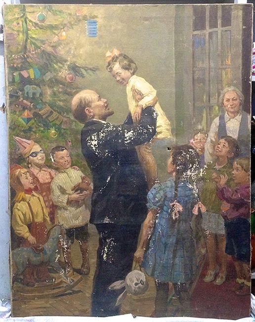 Ленин и Крупская на Кремлевской елке