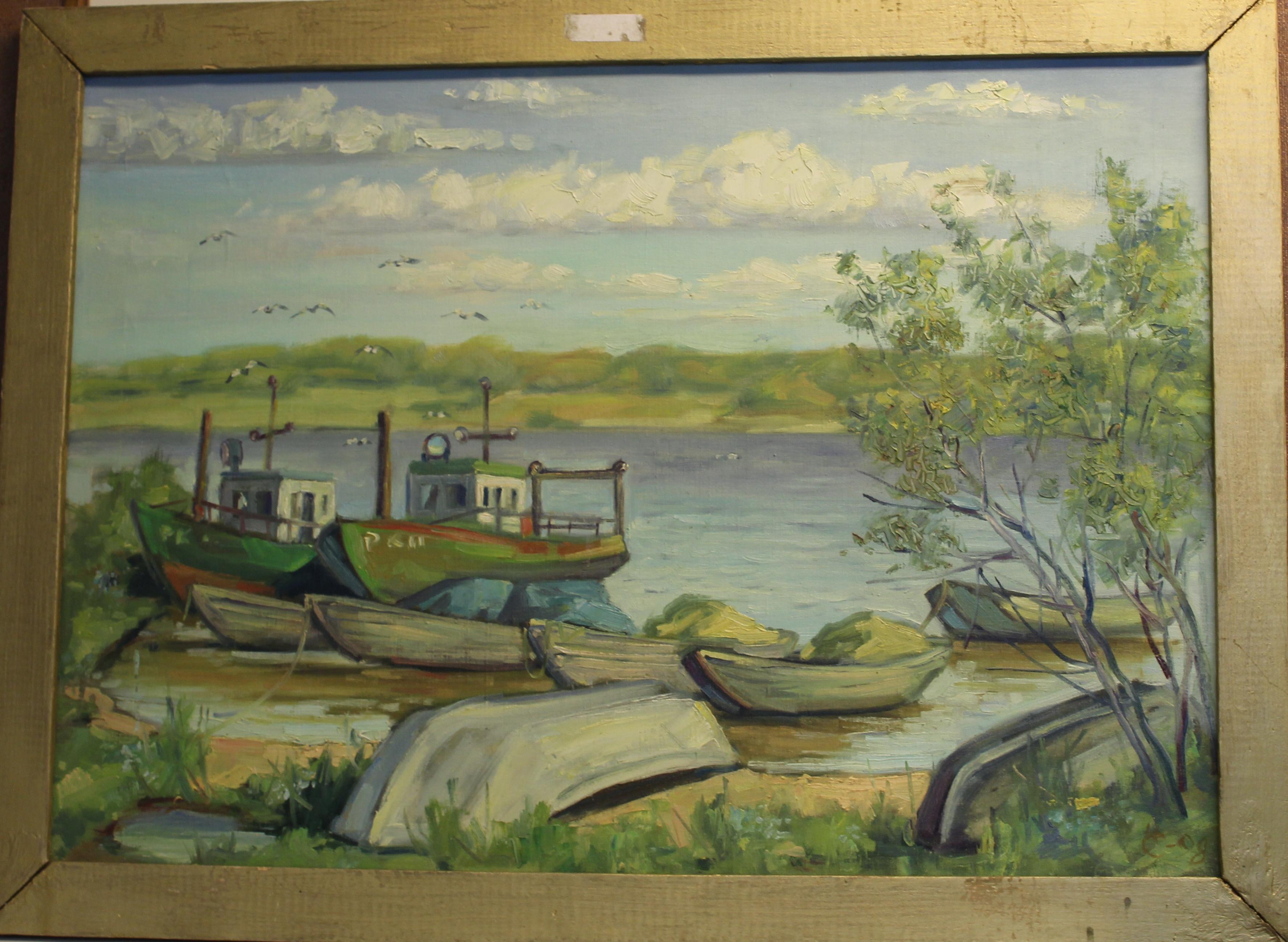 Волга- рыбацкие баркасы