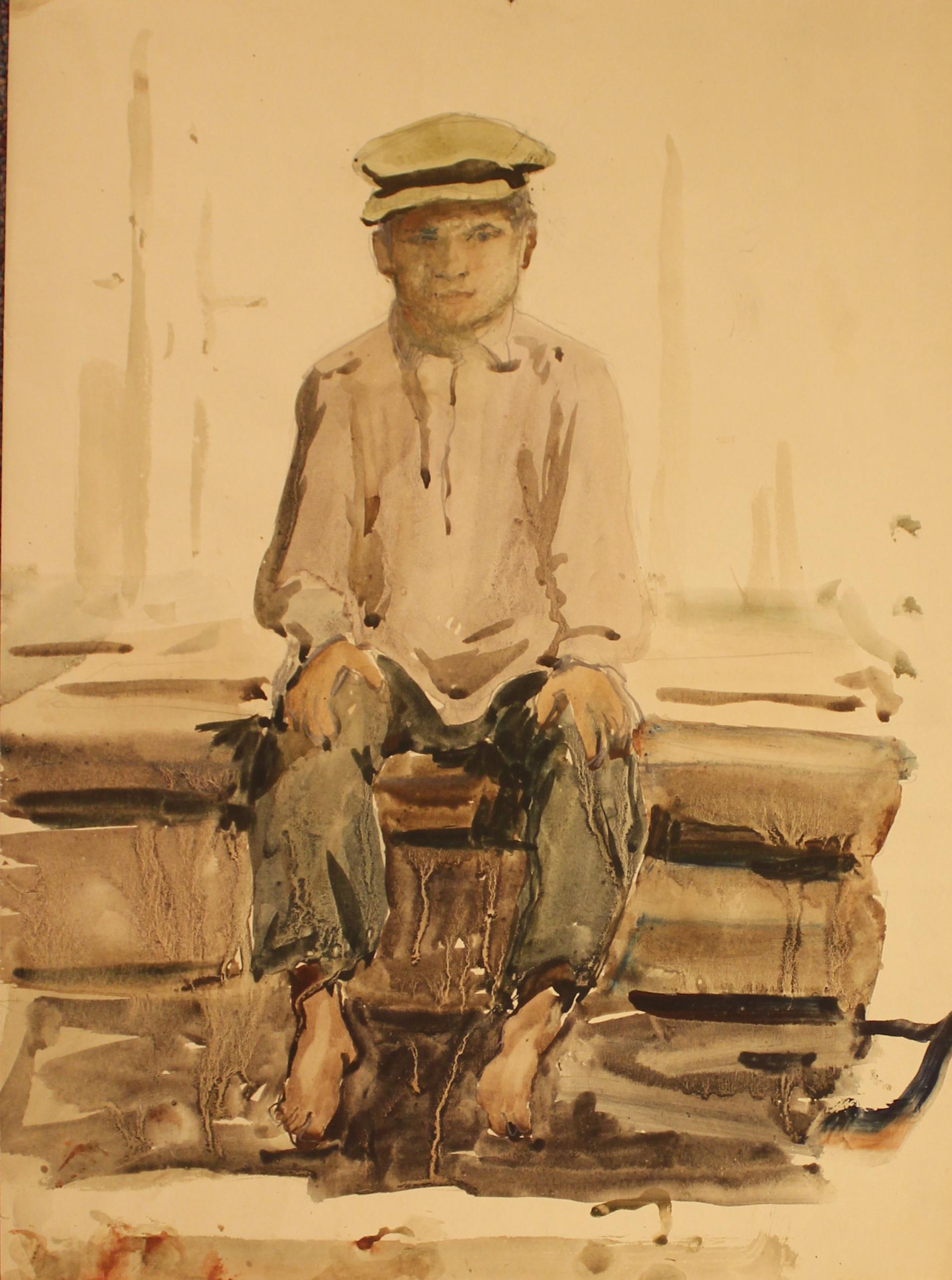 Портрет босого мальчика