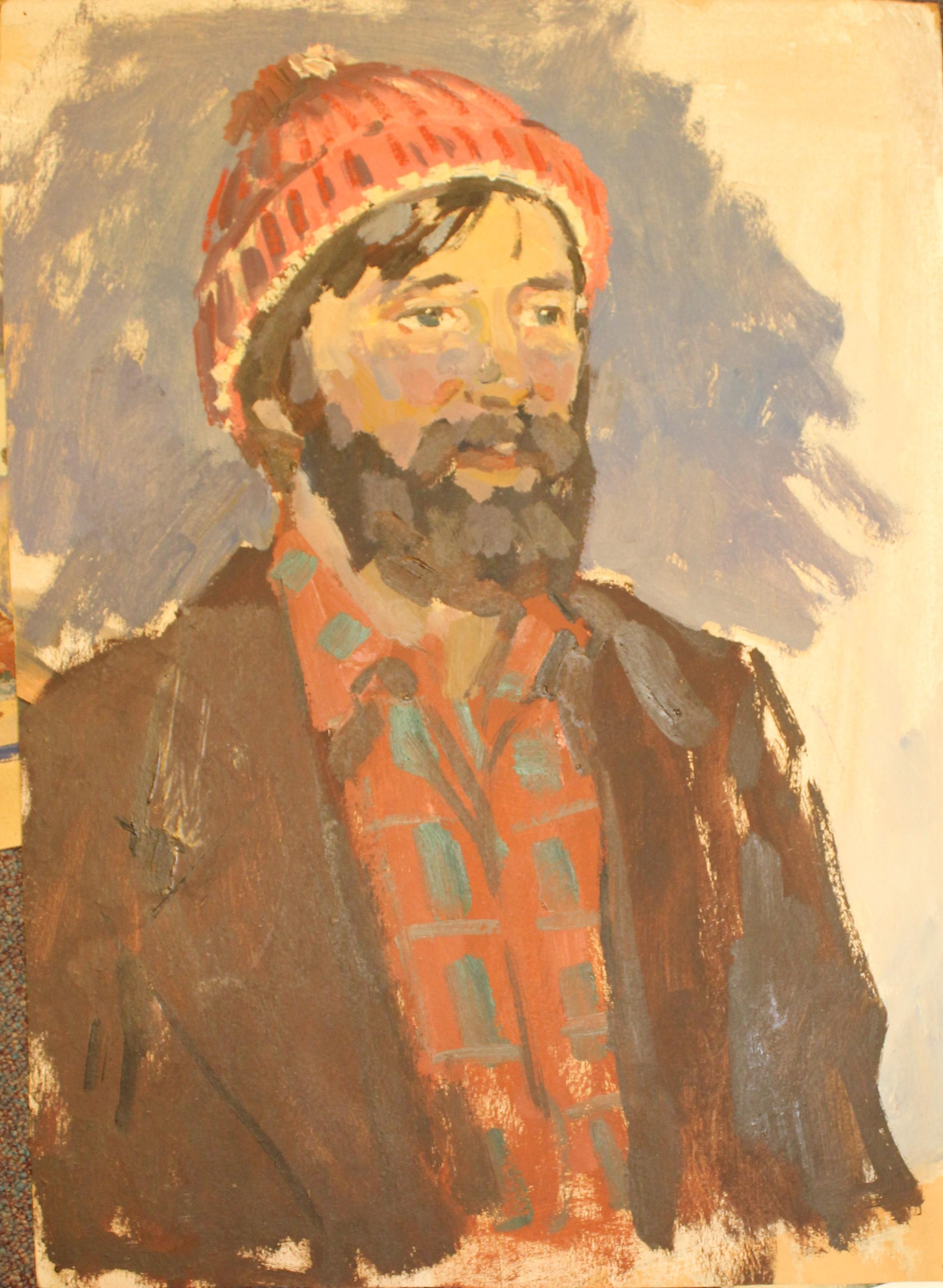 «Мужчина с бородой», этюд к картине «Первопроходцы»