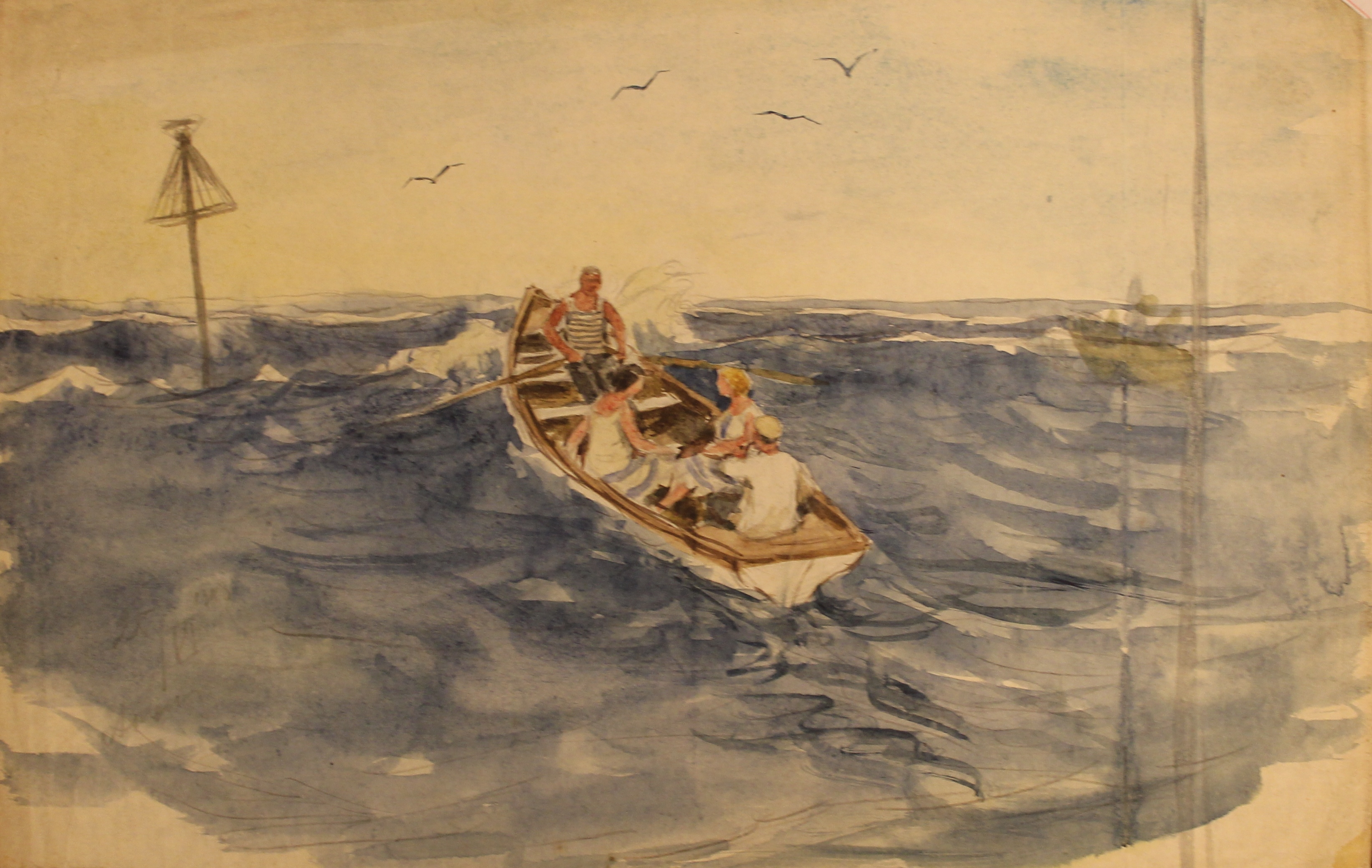 Море. Четверо в лодке