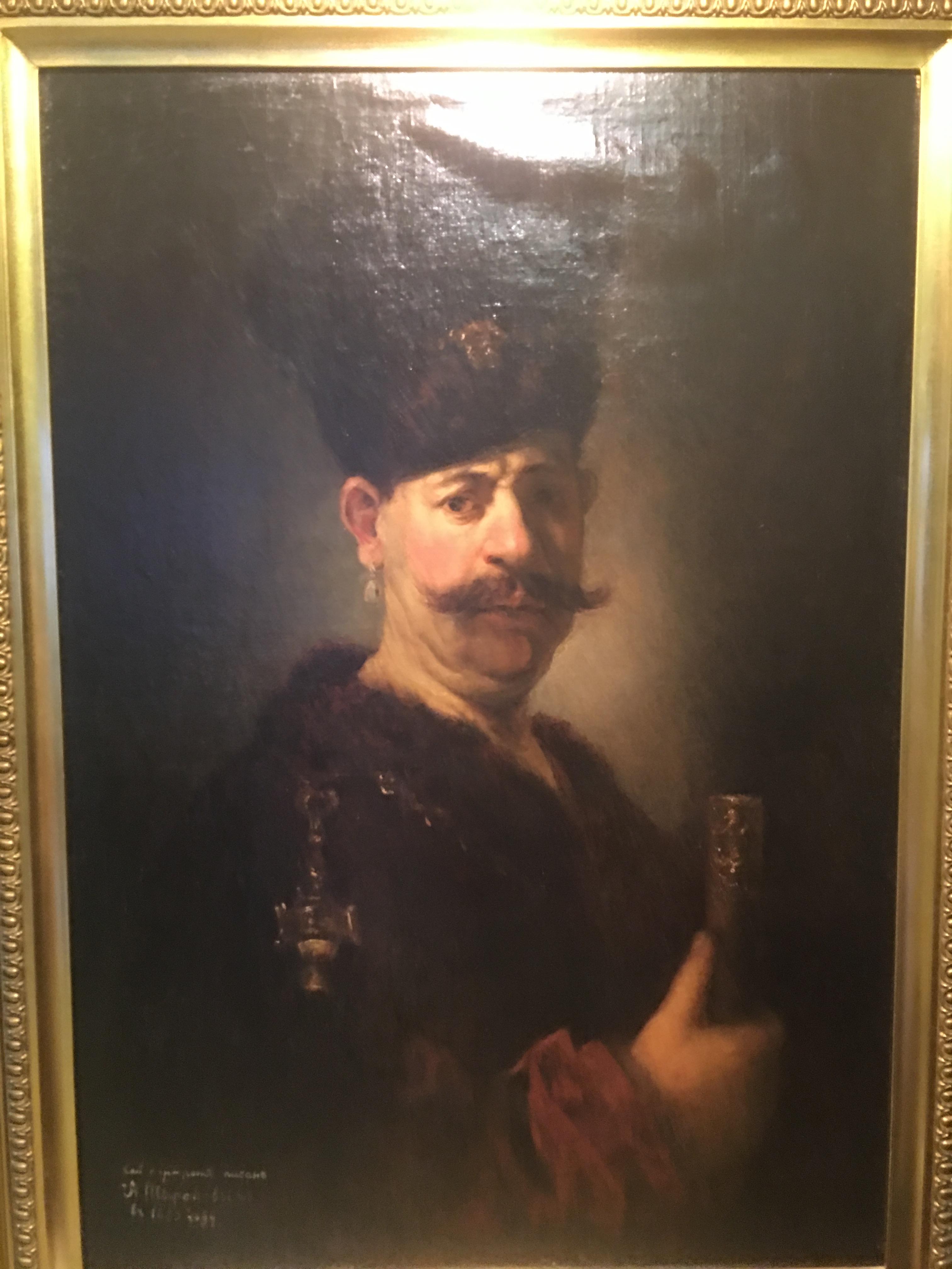 Мужчина в польском костюме (Напольный гетман) — копия с работы Рембрандта (Национальная галлерея искусств, Вашинктон