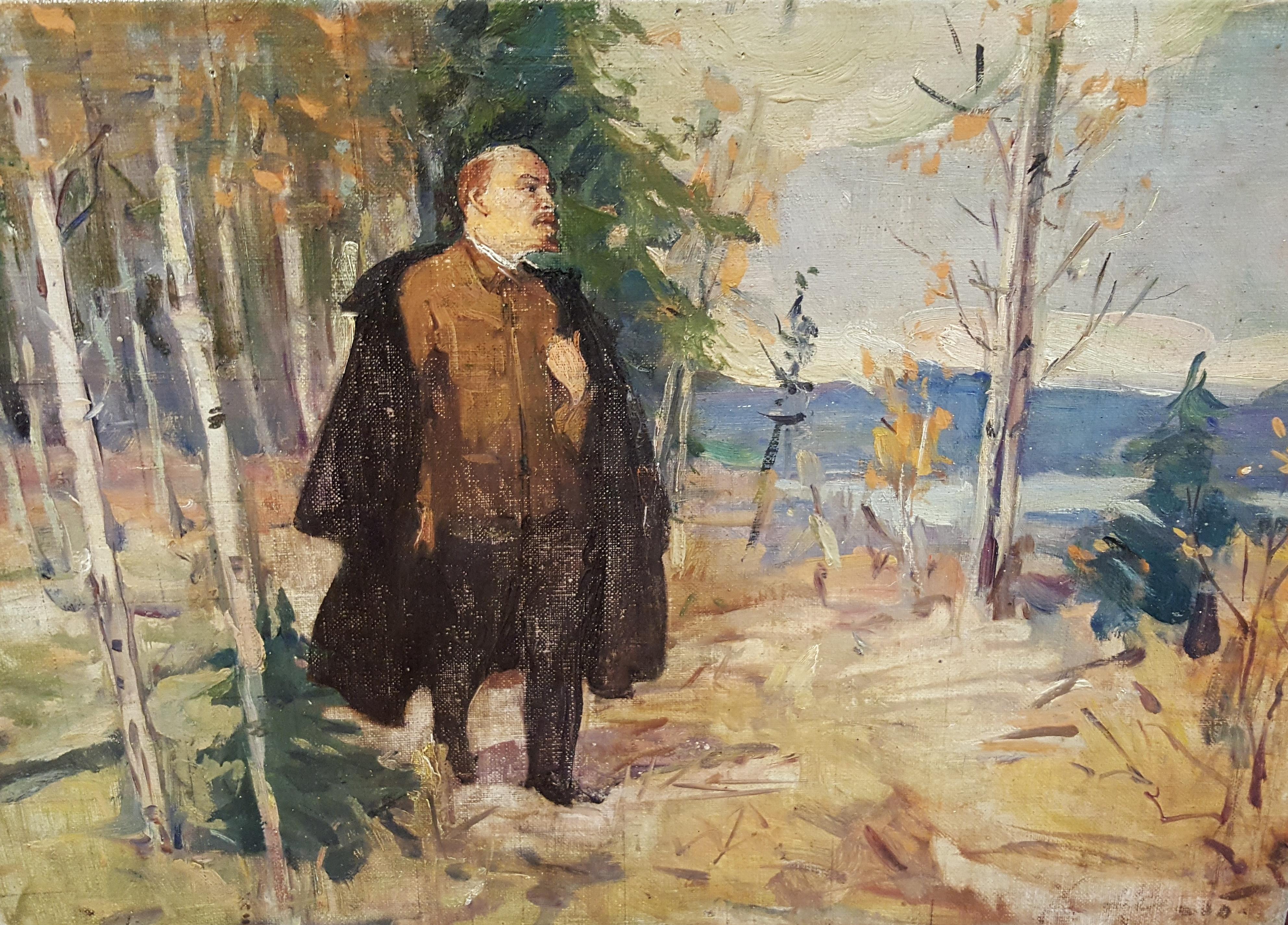 Ленин на прогулке