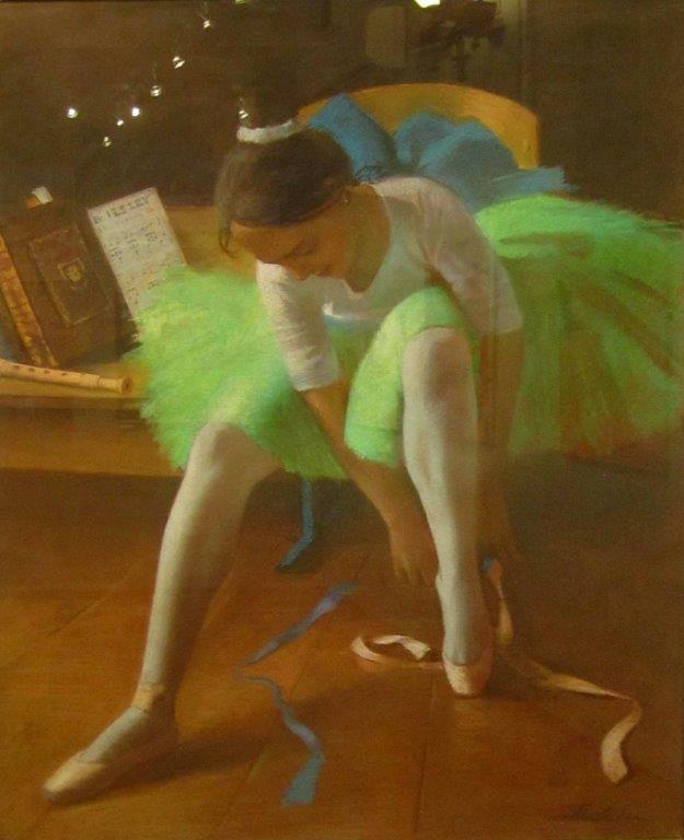 Балерина в зеленой пачке