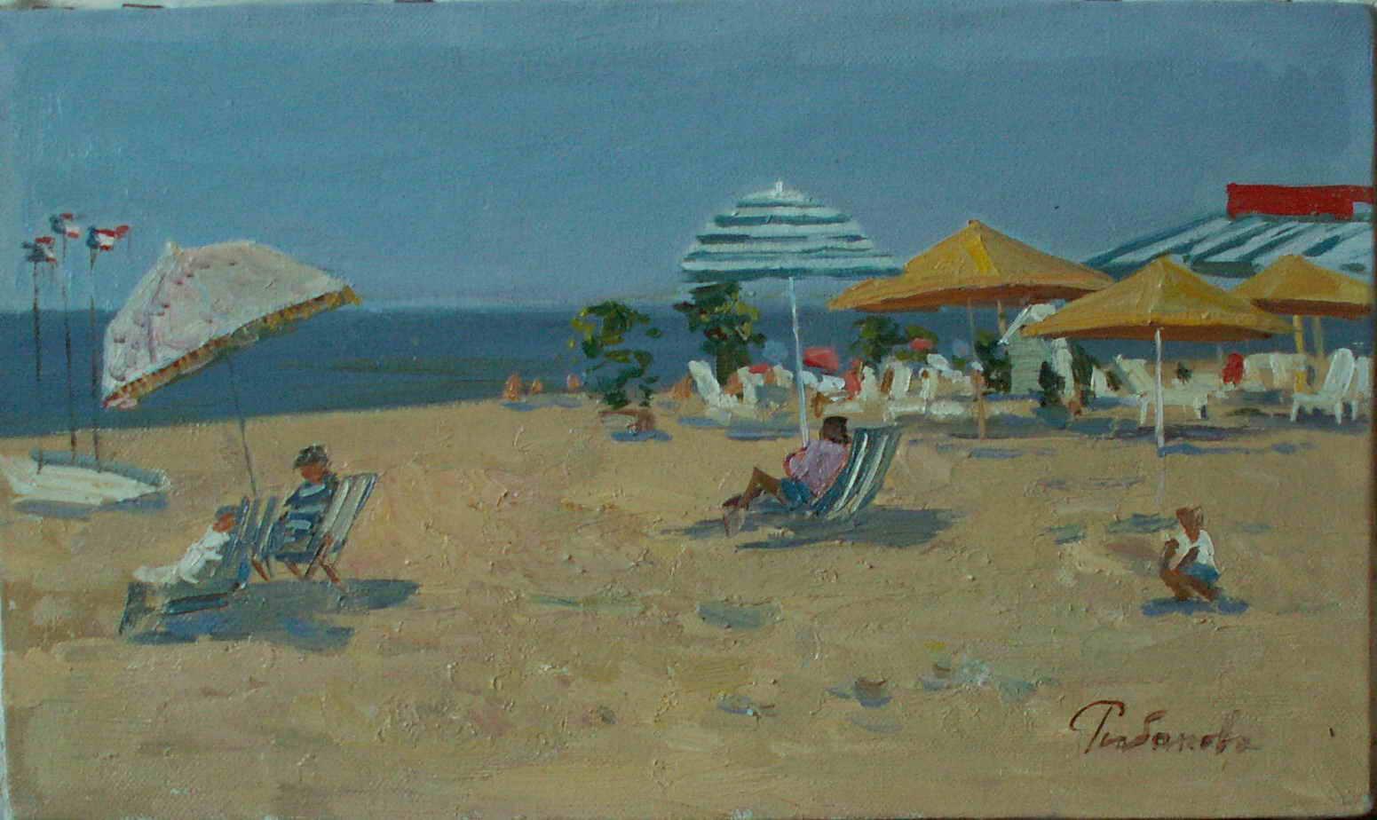 Пляж в Нормандии