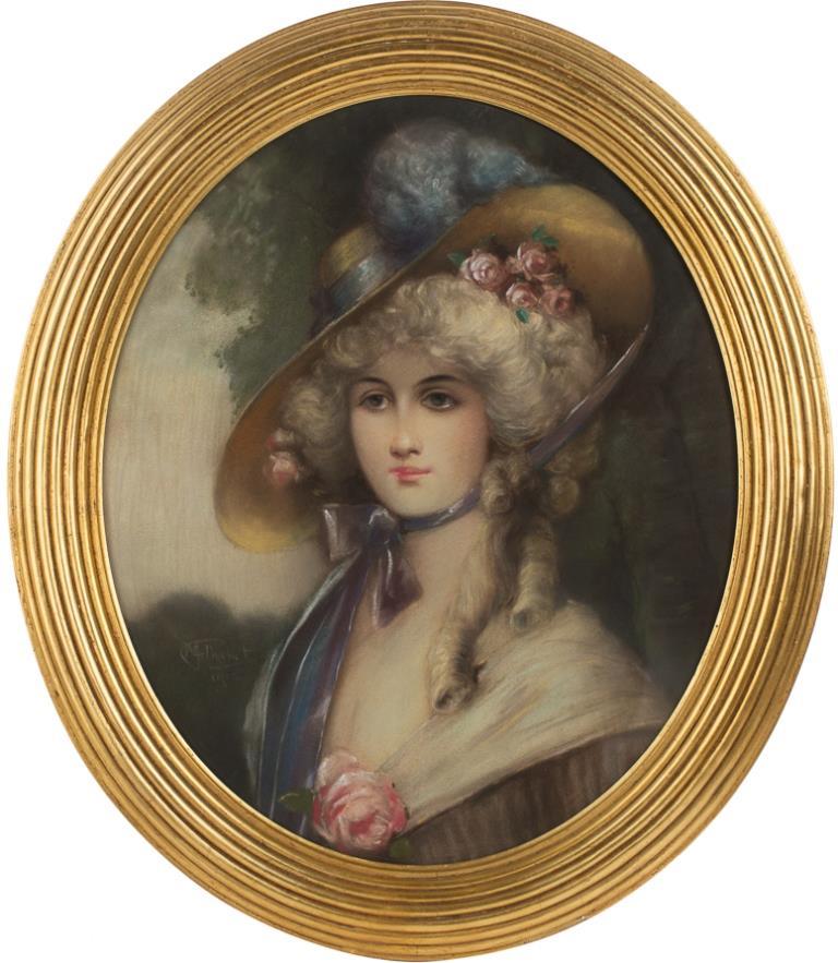 Девушка с розами в волосах