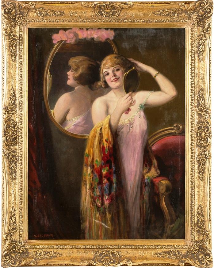 Дама у зеркала
