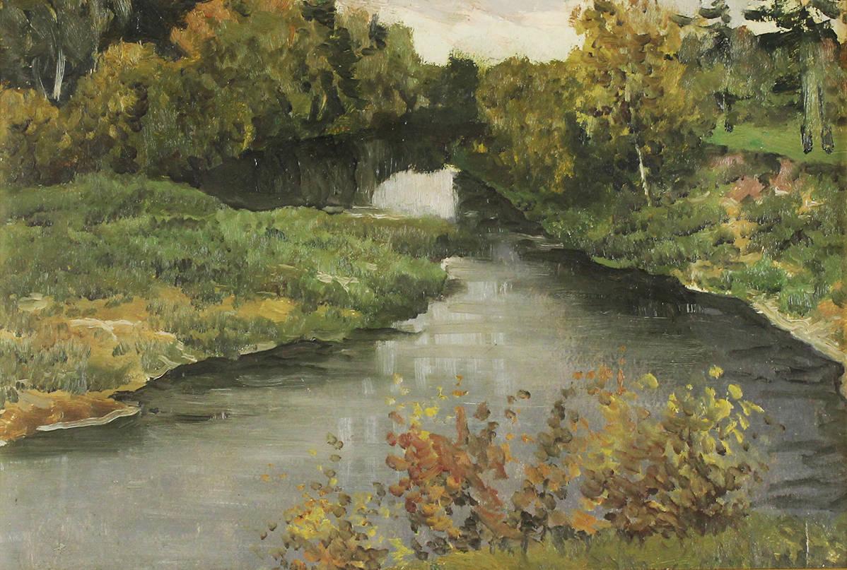 Осенний пейзаж с рекой