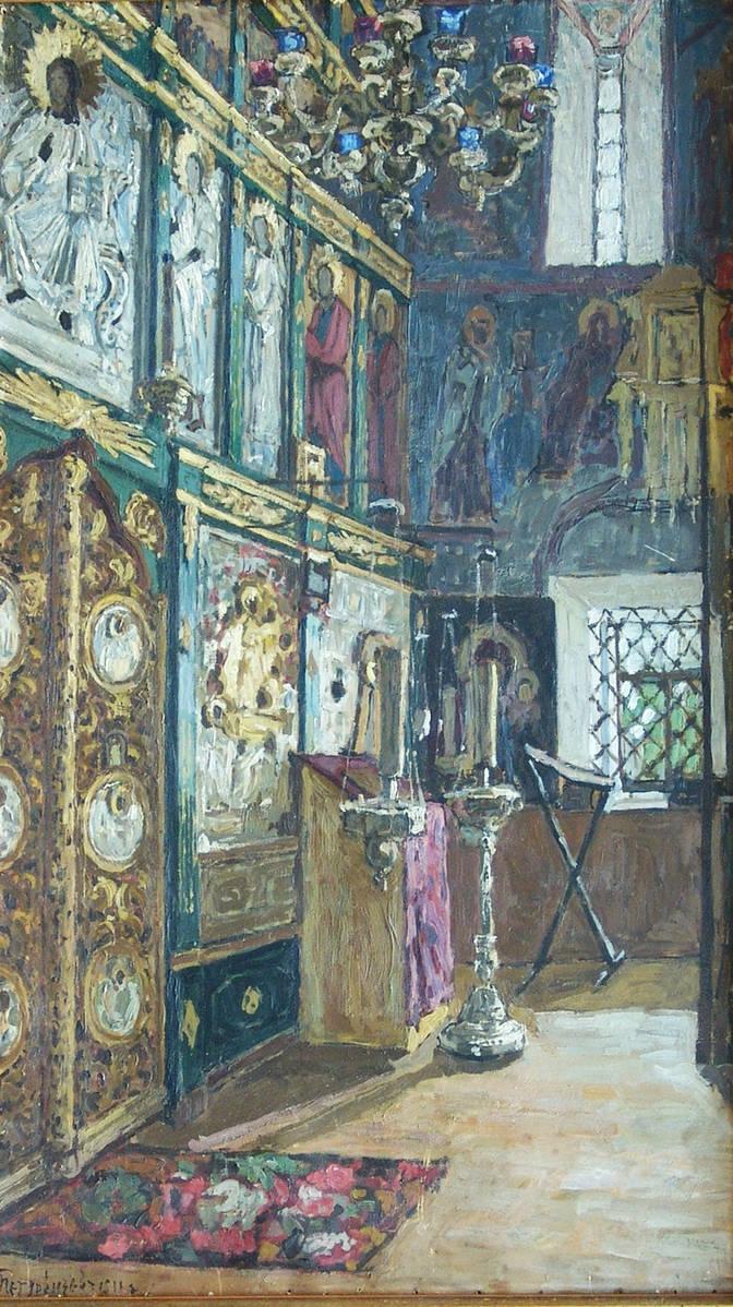Интерьер церкви. Иконостас