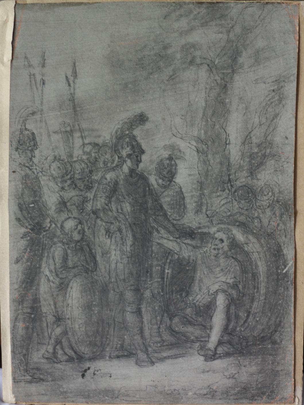 Александр Македонский беседует с Диогеном