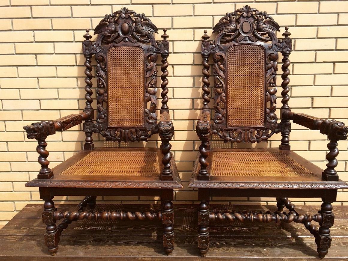 Два кресла-трона 19 век