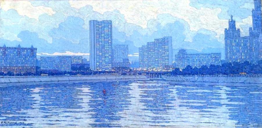 Светлый вечер на Москве-реке