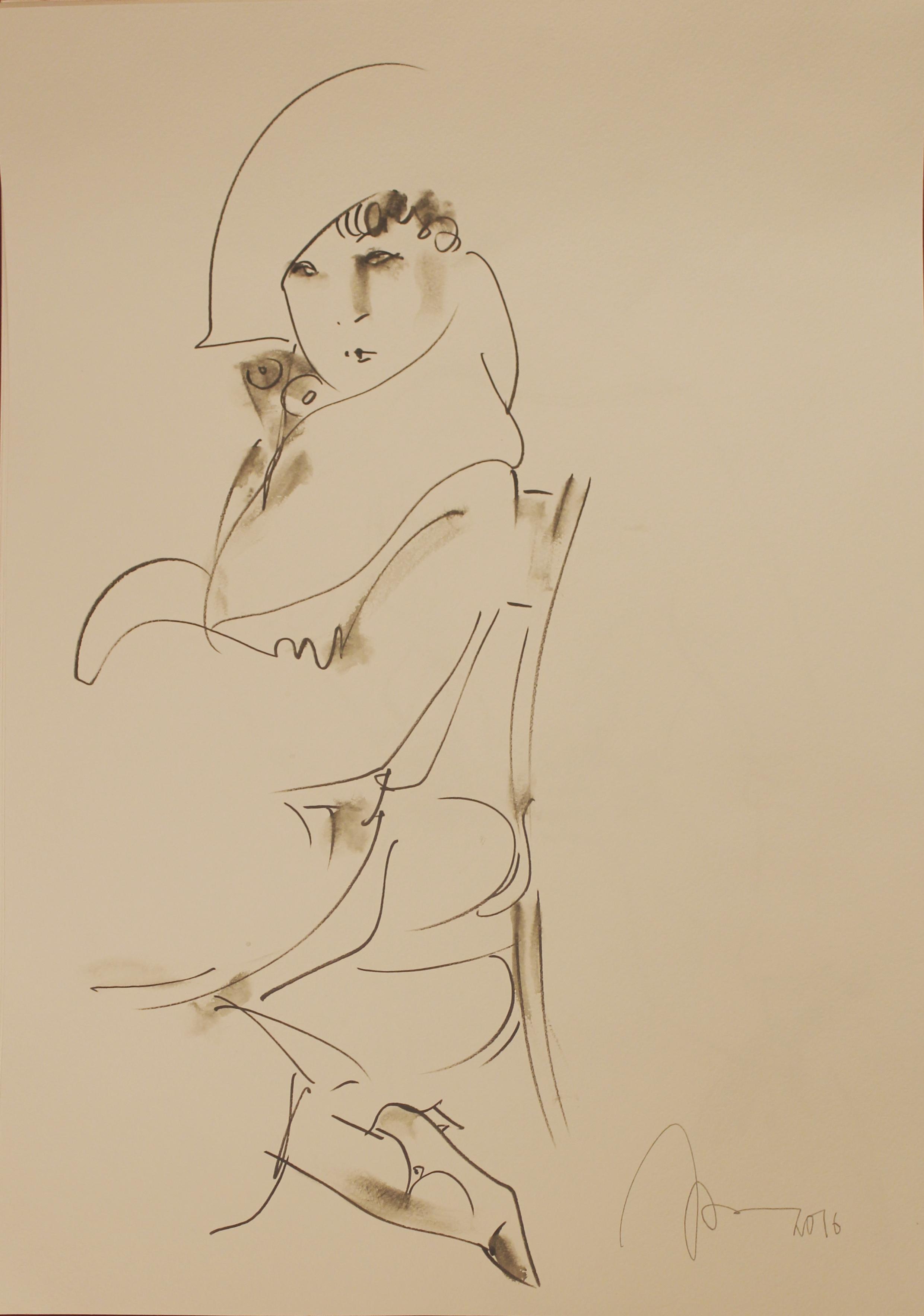 Дама на стуле