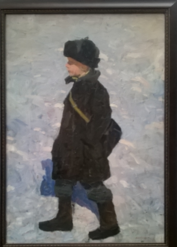 Мальчик на снегу