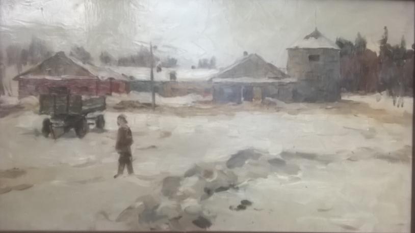 Зима в деревне (Скотный двор в совхозе Ефимово)