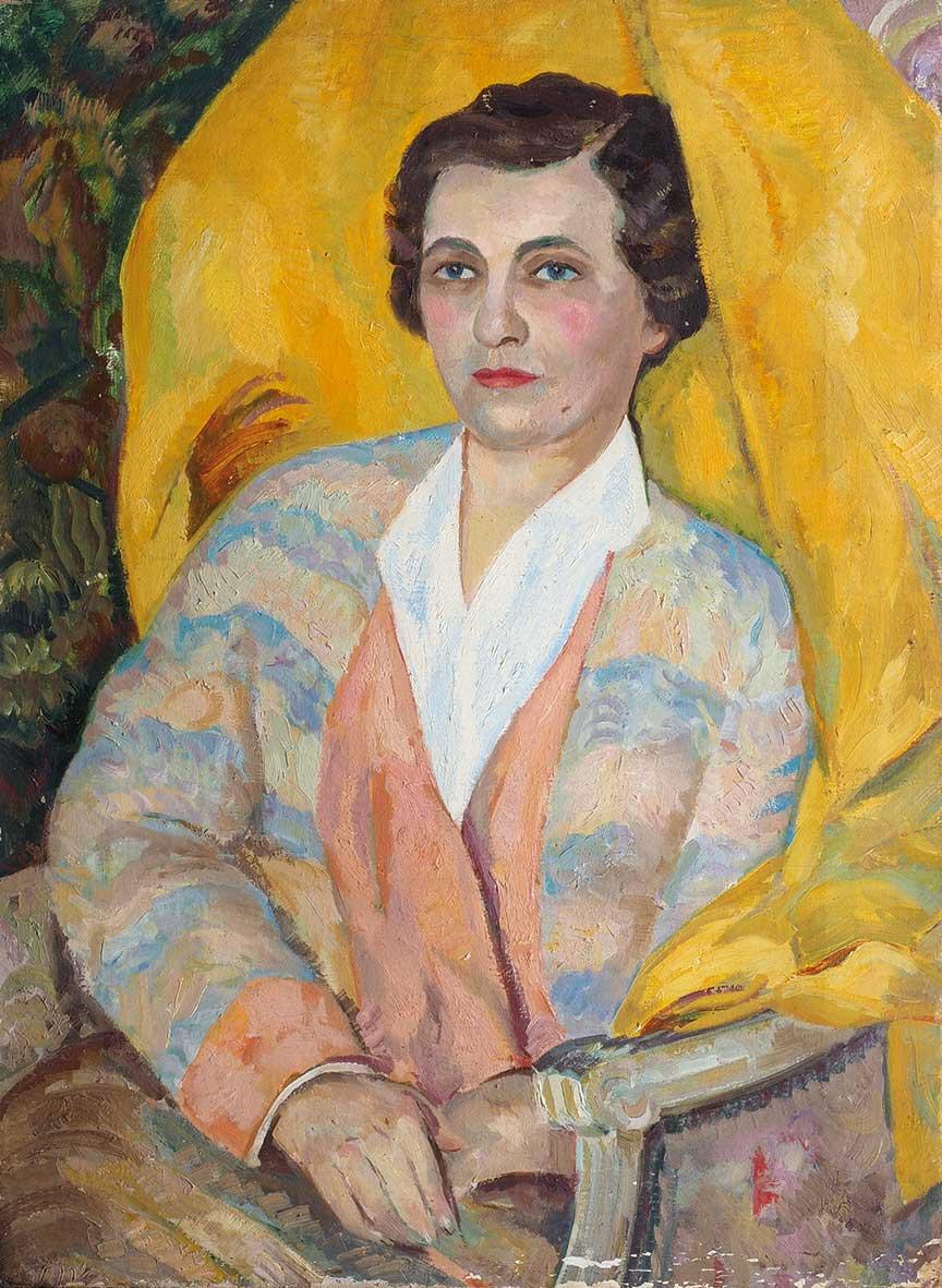 Портрет жены художника Лобановой А.В.
