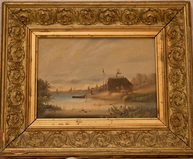 Пейзаж с водной мельницей