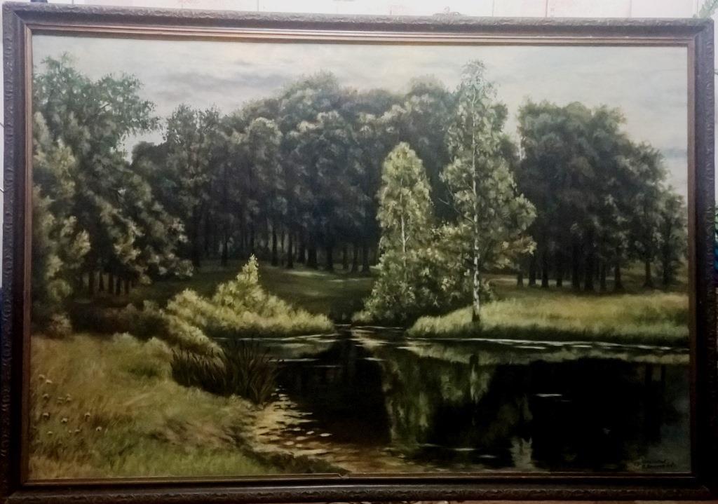 Пруд в старом парке (копия Шишкина)