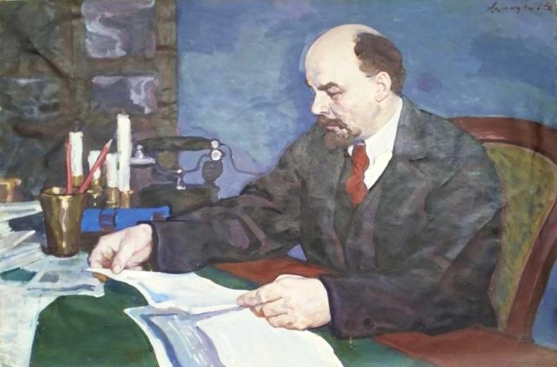 Ленин за чтением