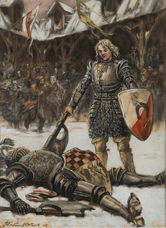 Иллюстрация к книге «Крестоносцы»  Сенкевича