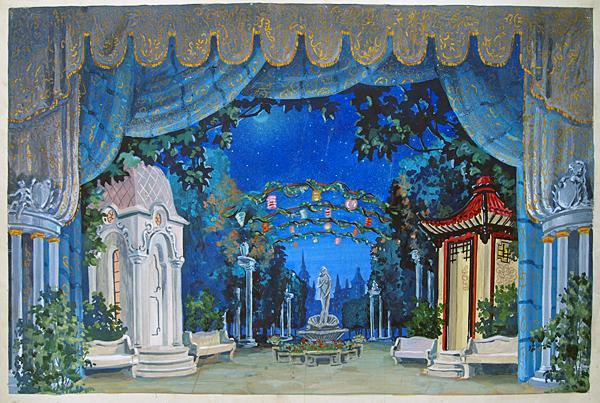 Эскиз декорации к спектаклю «Безумный день или Женитьба Фигаро» по произведению П.Бомарше