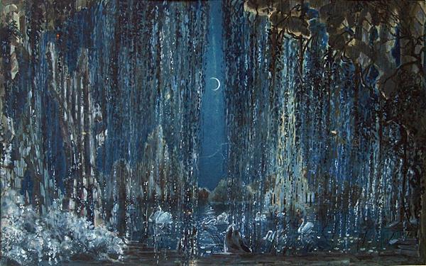 Эскиз декорации к опере «Лебединое озеро»