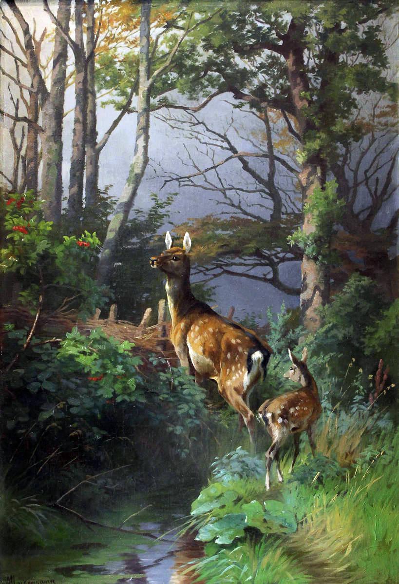 Лани в лесу