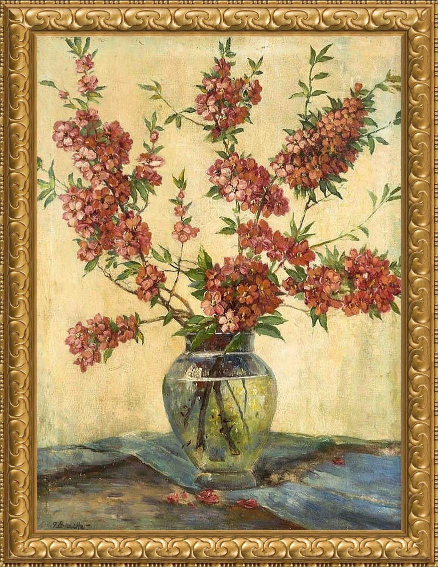 Натюрморт с цветущими ветками