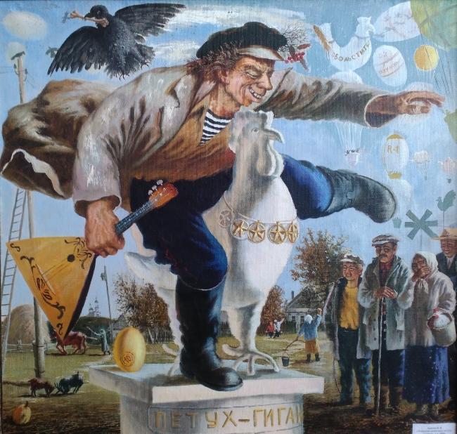 Открытие памятника петуху-гиганту в Ендурайкино