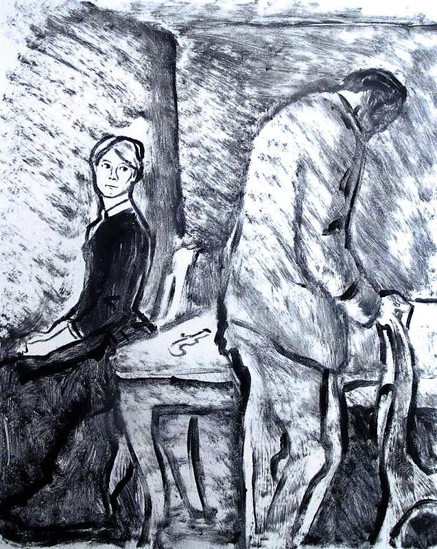 Кроткая бунтует (илл.к рассказу Ф.М.Достоевского «Кроткая\»)