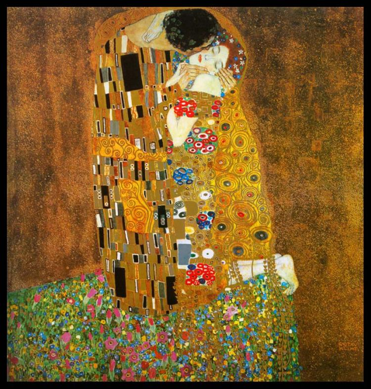 «Поцелуй» (копия картины Густава Климта)