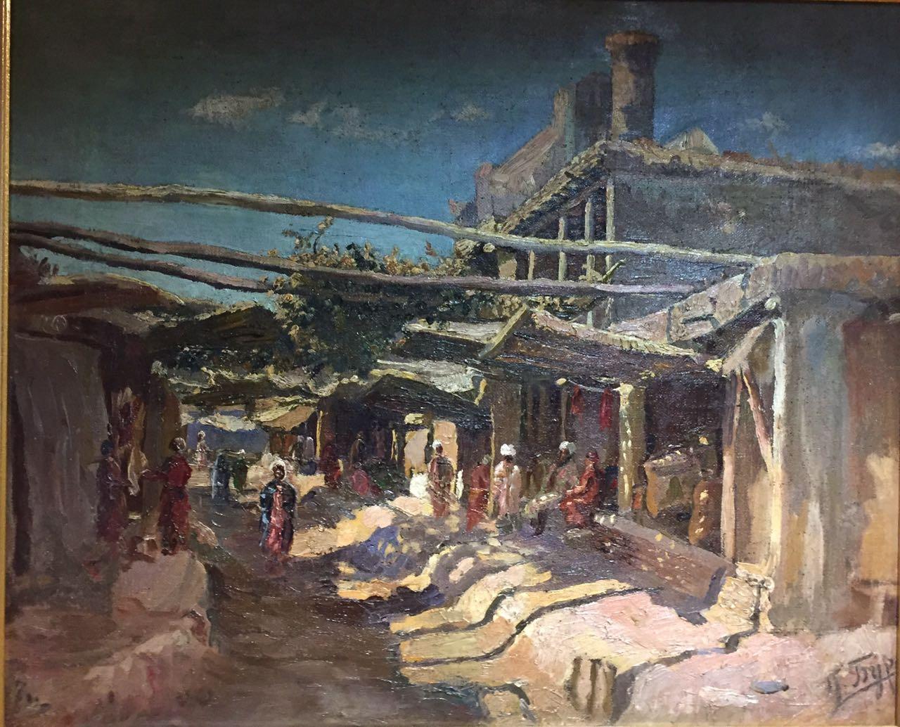 Крытый базар около Регистана, в Самарканде