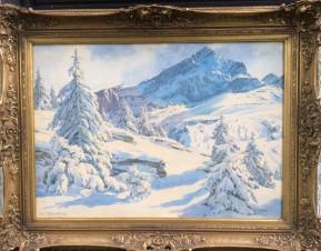 Альпийский зимний пейзаж