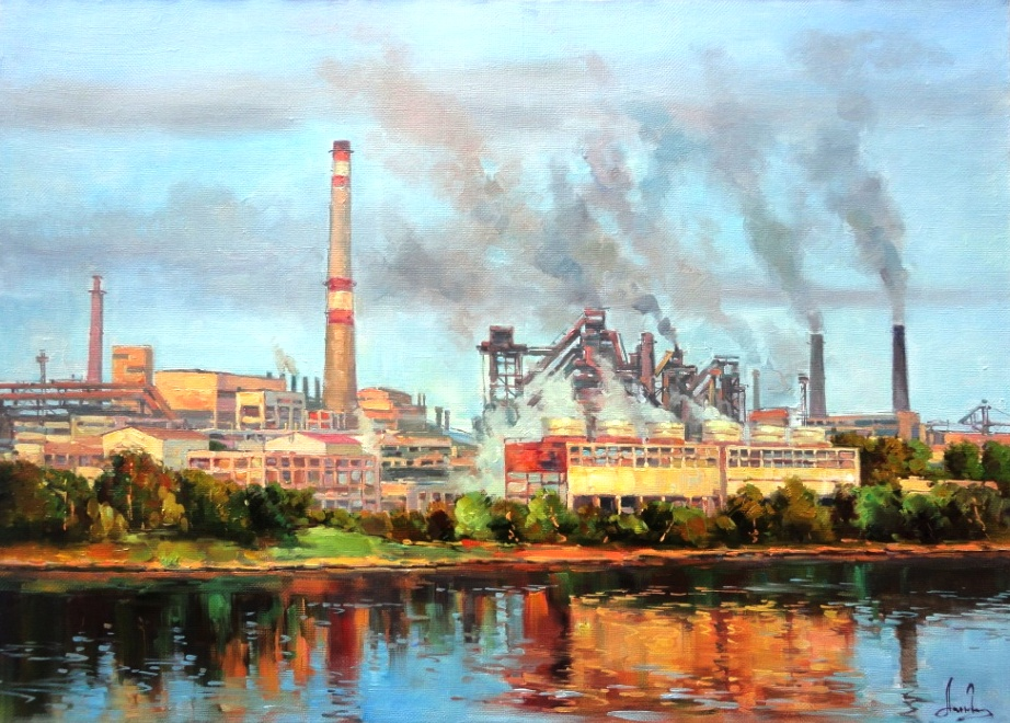 Завод за рекой