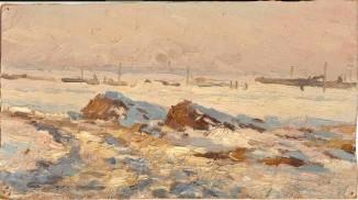 Зима на полях
