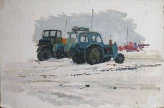 Трактора. Зима.