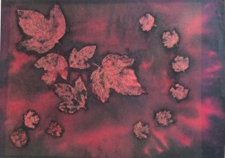 Бордовый листопад