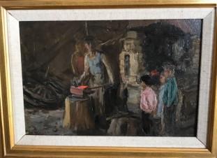 этюд к картине «В кузнице»