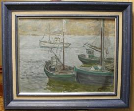 Рыболовецкий колхоз на реке Териберке у Баренцева моря