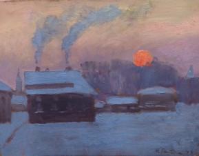 Зима в Печорах