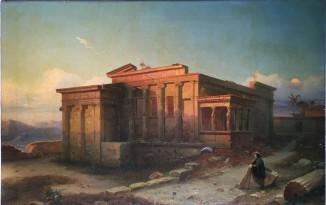 Эрехтейон-храм посвящен Афине,и царю Эрехтею.