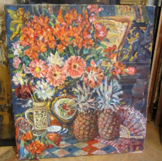 Натюрморт с ананасами