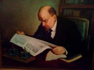 В.И.Ленин в кабинете