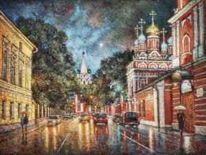 Гуляет дождь по старым переулкам