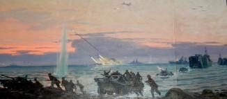 Эскиз к диораме «Учения на Краснознаменном Черноморском флоте»
