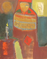 Матрёшка со свечой