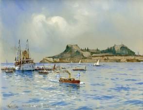 Яхта Гогенцоллерн на корфу 1905