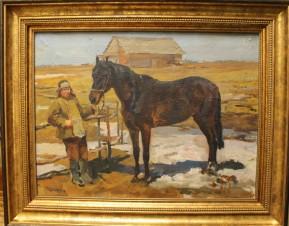 Колхозный конь. Загорск.