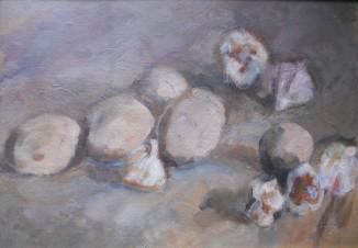 Натюрморт с картошкой и чесноком