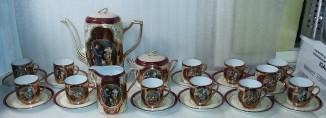 Кофейный сервиз на 12 персон. Antique Royal Vienna.